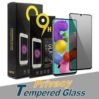 حامي الشاشة المضاد للتجسس لفون 12 برو ماكس 11 XS ماكس الخصوصية الزجاج المقسى لسامسونج ملاحظة 20 A71 A21S مع حزمة البيع بالتجزئة