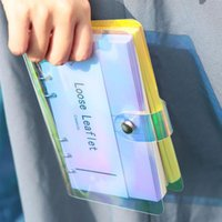 Creativo A5 A6 A6 PVC Laser Binder Allentato Binder Folder Folder Settimanale Lista Pianificatore settimanale Clip School Office File Organizer Forniture