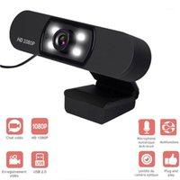 Webcam 2.0 USB 2.0 webcam Full HD 1080p webcam avec microphone clip-on 2.0 mégapixel CMOS webcam pour ordinateur ordinateur portable 1