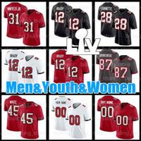 31 Antoine Winfield Jr Jersey Tom Brady 78 تريستان Wirfs 28 Leonard Fournette مخصص رجالي 18 Tyler Johnson 90 Jason Pierre-Paul Football