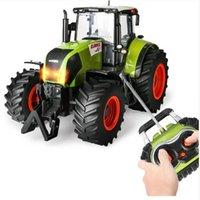 Novo Trator de Fazenda RC Tractor Sem Fio Remoto Reboque 1:16 High Simulation Scale Construção Veículo Crianças Brinquedos Hobby LJ201210
