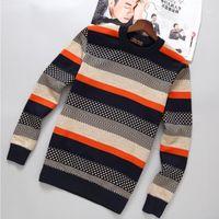 Jbersee Winter Mens Pullover Pulorover Свитеры O-образным вырезом вязаный пуловер мужской свитер Кашемир Толстый теплый повседневный свитер MEN1