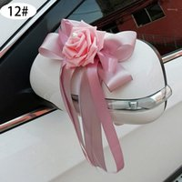 Wedding Car Decoration Wedding Flower Car Door Handles Rearv...