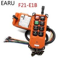 Kablosuz Endüstriyel Uzaktan Kumanda Anahtarları Vinç Vinç Kontrolü Asansör Vinç 1 Verici + 1 Alıcı F21-E1B 6 Kanallar T200605