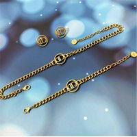 Collier Bracelet Lettre Femme Dijia Net Rouge Ensembles de diamant Diamond Bracelet Boucles d'oreilles