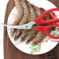 Nuevo popular langosta de camarón Cangrejo mariscos tijeras tijeras cizallas screen shells herramienta de cocina popular gratis DHL envío GWF4425