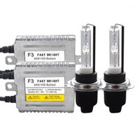 Xenon Kitleri Orijinal 35 W Cnlight HID Ampul Kiti AC DLT F3 Balast 4300 K 5000 K 6000 K H7 H1 H3 H11 9005 HB4 D2H Hızlı Başlangıç Kit1