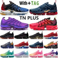 2021 Almofada de alta qualidade OG TN Plus Mens Mulheres Correndo Sapatos Meia-noite Gradientes da Marinha Azul EUA Coquettish Pastel Pastel Sneakers Treinadores Tamanho 36-45