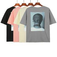 19SS Новый весенний летний хип-хоп фото Классическая буква сплошной тройник скейтборд футболка хлопчатобумажные мужчины женщины с коротким рукавом повседневная футболка T05