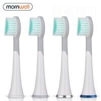 Mornwell 4PCS 7PCS مطهر مطهر رؤساء فرشاة الأسنان مع قبعات ل Mornwell D01 / D02 فرشاة الأسنان الكهربائية 201116