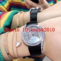 New Limelight Gala Womens Watch Swiss Quarz Bewegung Voll Diamant Luxus Frau Watch Sapphire Kristall Frau Designer Uhren Lederband