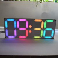 Timers Grand pouce Rainbow Color Numérique Tube DS3231 Horloge Kit DIY avec Couleurs personnalisables Cadeau électronique