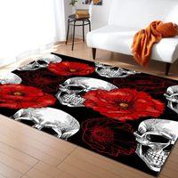 شانتو تتفتح أحمر زهرة نمط السجاد لغرفة المعيشة غرفة نوم المنطقة البساط غرفة الاطفال تلعب حصيرة 3d المطبوعة الرئيسية carpet1