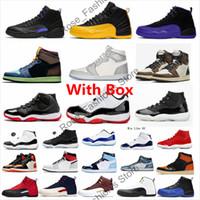 Con el cuadro 12 Dark Concord XII Mens Baloncesto Zapatos 12s Negro Universidad Dard Dard Grey 11 25 aniversario Criado 1S unc a Chicago Sneakers