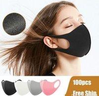 Maschere DHL Pacchetto individuale lavabile di protezione del lato in cotone riutilizzabile per adulti bambini in bicicletta Anti Bocca antipolvere panno dei bambini maschere FY9041