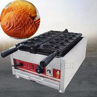 Ekmek üreticileri küçük balık kek deniz çipura makinesi 220 V / 110 V çörekler kırmızı fasulye dondurma doldurma goldfish ızgara krema sokak ticari