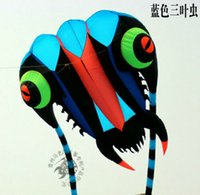3D 16m² 1 ligne bleue Stunt Parafoil trilobites Power Sport Cerf-volant extérieur jouet