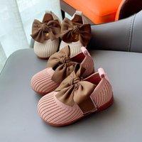 Çocuk Ayakkabı Antislip Yumuşak Alt Leke Ilmek Pembe Bebek Casual Düz Prenses Yumuşak Soled Toddler Ayakkabı Çocuk Boyutu Kızlar Sevimli İlk Yürüteç