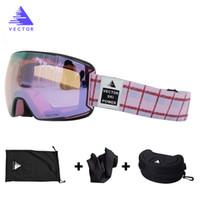 OTG Ski Goggles Small Purple Lens Snow Glasses Women UV400 Anti-fog Coatings Snowmobile Snowboard Skiing Women Outdoor Adult Men Q0107