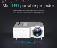 원래 UNIC UC28C 미니 LED 프로젝터 휴대용 포켓 프로젝터 멀티 미디어 플레이어 홈 시어터 게임 지원 10-60inch USB TF Beamer MQ15