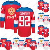 2016 كأس العالم فريق روسيا الهوكي جيرسي WCH 86 Kucherov 87 Shipachev 9 Orlov 7 Kulikov 1 فارلاموف 92 Kuznetson 77 Telegin Ice Hockey Jersey