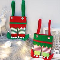 Рождественские штаны сумка Нового Рождество Сант Эльф Дух штаны чулки сумка Лечить Карман конфета бутылки подарки Сумка Present PPF2479