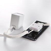 10PCS أبل الروبوت الهاتف الأمن نظام انذار ضد السرقة الأبيض عرض موقف الهاتف المحمول الآمنة مضاد للسرقة حامل الجهاز مع المشبك