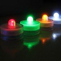 웨딩 파티에 대 한 전자 촛불 빛 낭만적 인 방수 잠수정 LED 차 빛 크리스마스 발렌타인 데이 장식 20pcs / lot