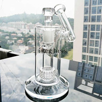 7,5 polegadas altas mobius matriz cachorro de fumar copo de água beaker bog de vidro birdcage percolador sidecar recycler bubbler shisha amigas