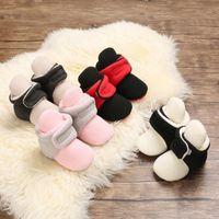 2021 Yenidoğan Bebek Çorap Ayakkabı Erkek Kız Yıldız Toddler İlk Walkers Patik Pamuk Konfor Yumuşak Kaymaz Sıcak Bebek Beşik Ayakkabı1