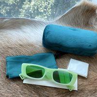 Novo 0516 Óculos de Sol para Mulheres Homens Especial Proteção UV Mulheres Designer Vintage Quadro Quadrado Quadrado 6952S Unisex Sol Óculos Top Quality