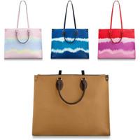 Высокое качество Onthego сумочка новая женская сумка мода большая дуплексная печать разных стилей высококачественный качественный дизайнер сумка дизайнерская сумка