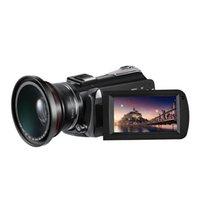 Videocamera della videocamera della videocamera Videocamera 4K Ordro AC5 12x Zoom ottico zoom di YouTube Vlog con obiettivo grandangolare
