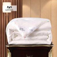 المعزون مجموعات lofuka النساء 100٪ التوت الحرير لحاف صحي الجمال اليدوى لحاف شغل مزدوجة الملكة الملك 1 قطع