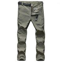 Calças ao ar livre verão de secagem rápida masculina respirável à prova d 'água hiking masculino alpinismo calças de pesca1