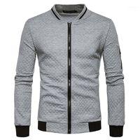 Abbigliamento di marca Felpa da uomo con cerniera Cardigan Giacca Cappotto Giacca Cappotto Fashion Plaid Stand Collar Mens Autumn Sweatshirt11