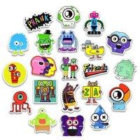 50 pcs autocollants de doodle imperméables drôle petit monstre robot robot autocollant autocollant cadeau jouets pour enfants bricolage ordinateur portable réfrigérateur Su SQCDTY TOYS2010