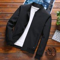 Jaquetas masculinas Mens Primavera e Casacos Cor Sólida 2021 Casaco Casaco Homens Masculino Moda Luyzjzen Jaqueta Masculina K131