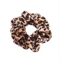 Гладкий коралловый флис бархат классический леопардовый принт головные волосы эластичные стяжки волос волос Screunchies женщины аксессуары для волос q bbyglv