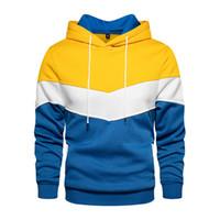 الرجال هوديس بلون مغاير اللون البلوز الصوف طويل الأكمام رجل دافئ الرياضة أبلى منتظم صالح مع جيوب الاتحاد الأوروبي حجم S-2XL WY90