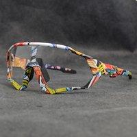 Männer Frauen Photochromic UV400 Rennradbrille Radfahren Racing Goggle Fahrrad MTB Sonnenbrille Outdoor Sport Laufen Reiten Eyewear J1224