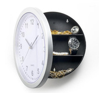 1 pièce 25 cm rond Hidden Secret Wall Horloge Safe Money Stab Bijouterie Stuff Colck Decroation Quartz Clock1