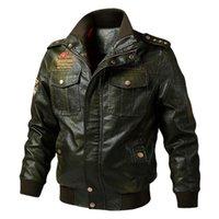 Осенний зимний мотоцикл кожаная куртка мужчин 5xL 6xL мужская кожаная кожаная бомбардировщик Jaque de couro masculina мужская кожаная одежда 201114