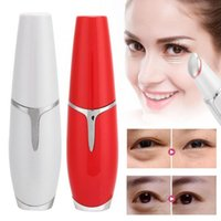 Red Blue Light Eye Massage Pen Lip Beauty Instrument Vibrati...