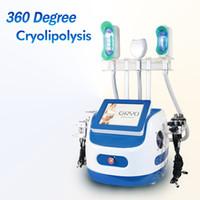무료 배송 7 Cryolipolysis 장치 360도 Cryo + Cavitation + RF + Lipolaser Fat 슬리밍 기계 Cryoskin Double Chin 제거