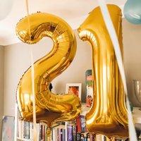 40inch 수 풍선 알루미늄 필름 풍선 헬륨 풍선 생일 파티 기념일 실버 골드 장식 globos 장미 거울