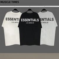 Nebel Essentials Herren und Womens Baumwolle Kurzarm T-shirt Slim T-Shirt Männliche Marke Tees Tops Sommer Neue Mode Casual Clothing X1227