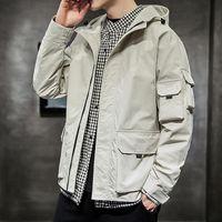 2020 Mens Jackets Outono Casual Jacket Coats Hoodie Moda Zipper Plus Size Masculino Outwear Mens Clothing Casacos FB Brasão