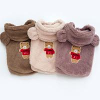 Mode Haustier Hund Kleidung Samtwesten Accessoires Herbst- und Winterüberzug Liefert Bären Außergewirr Hut 14h P2