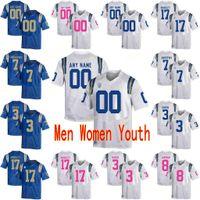 맞춤형 UCLA Bruins 대학 축구 유니폼 1 Alterraun Verner 10 Demetric Felton 11 Anthony Barr Men 여성 청소년 스티치